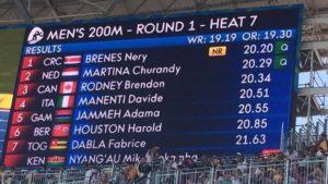 Brenes clasificó a semifinales de los 200 metros planos de Río con un nuevo récord nacional (Foto: CON)