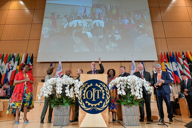 Aprobación del convenio contra la violencia y el acoso en el trabajo en la OIT, Ginebra-Suiza.