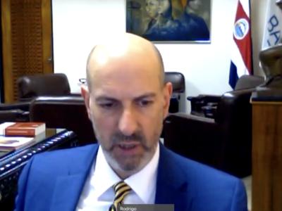"""""""Costa Rica ha sido una de las economías más resistentes a la pandemia de Covid-19"""", resaltó Rodrigo Cubero, presidente del Banco Central."""