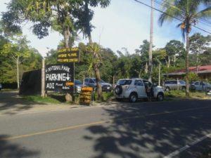 Parqueo explotado ilegalmente por la Asociación de Desarrollo en Manuel Antonio