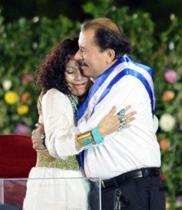 Murillo y Ortega durante la investidura presidencial en enero del 2012. Ahora ella será más que la poderosa primera dama; será vicepresidenta constitucional.