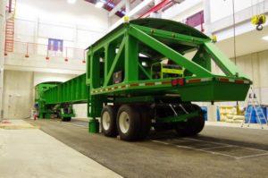 El simulador de vehículos pesados o HSV permite reproducir de manera acelerada el efecto de los vehículos sobre las estructuras de pavimento